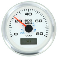 Sierra 781-625-080P GPS Speedometer W/heading display 80MPH Domed SS