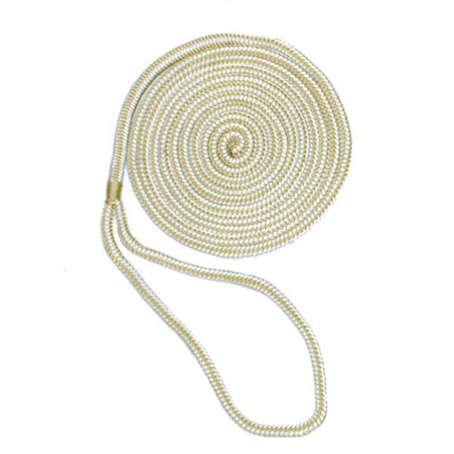Aamstrand Double Braid Nylon Colored Dock Lines - Gold & White