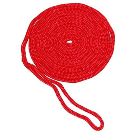 Aamstrand Double Braid Nylon Colored Dock Lines - Red
