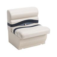 """Wise Premier 27"""" Pontoon Bench Seat - Platinum/Midnight/Cobalt"""