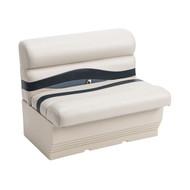 """Wise Premier 36"""" Pontoon Bench Seat - Platinum/Midnight/Cobalt"""