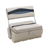 Wise Premier Pontoon Flip-Flop Seat - Platinum/Midnight/Cobalt