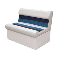 "Wise Deluxe 37"" Pontoon Lounge Seat - White/Navy/Blue"