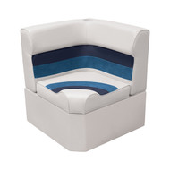 Wise Deluxe Pontoon Corner Seat - White/Navy/Blue