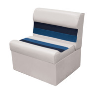 "Wise Deluxe 27"" Pontoon Lounge Seat - White/Navy/Blue"