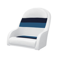 Wise Deluxe Pontoon Captain's Bucket Seat - White/Navy/Blue