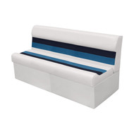 "Wise Deluxe 55"" Pontoon Bench - White/Navy/Blue"