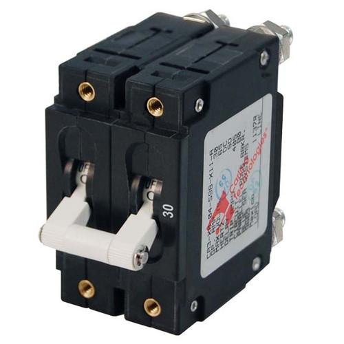 Blue Sea C Series Double Pole Toggle Circuit Breaker