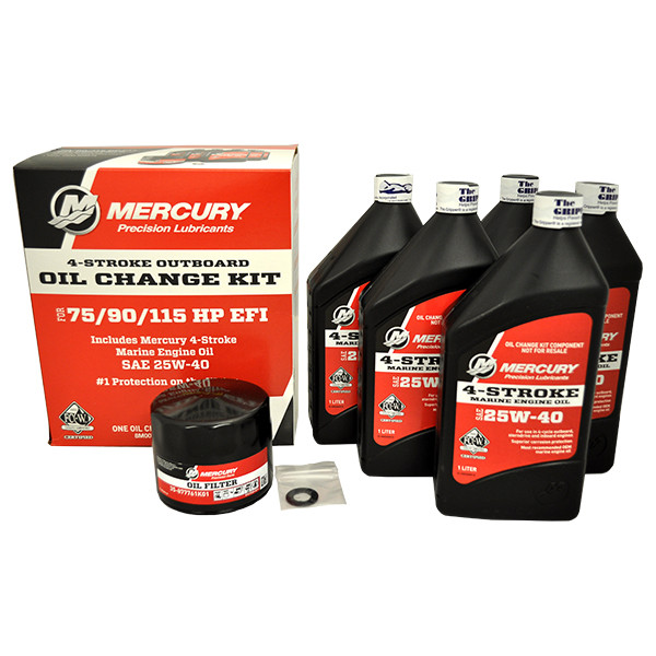 Mercury Marine 75/90/115 hp 4-Stroke EFI Oil Change Kit on
