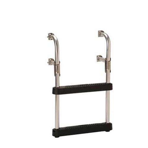 "Garelick Transom Ladder w/ 16"" Wide Black Poly Steps"