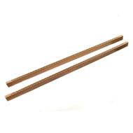 Whitecap Teak Louvered Door Side Rails, Pair