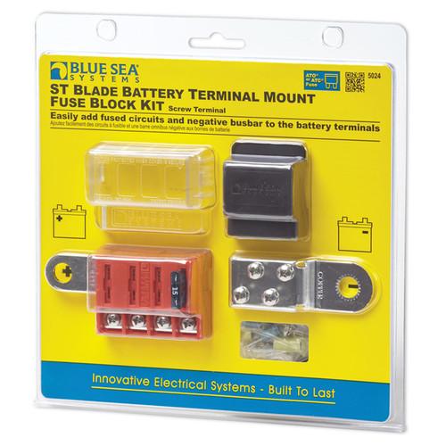 Blue Sea ST-Blade Battery Terminal Mount Fuse Block Kit