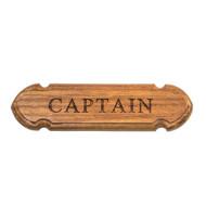 Whitecap Teak Captain Name Plate