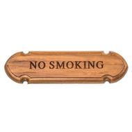 Whitecap Teak No Smoking Name Plate