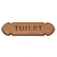 Whitecap Teak Toilet Name Plate