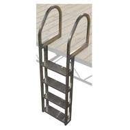 Patriot Docks Aluminum Wide 4-Step Ladder