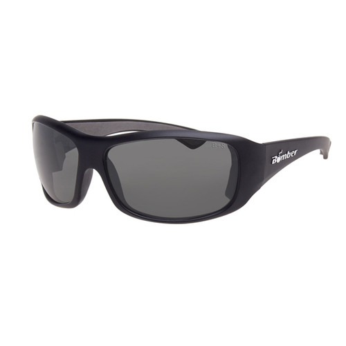 Bomber Butter Bomb Matte Black w/Polarized Smoke Lens