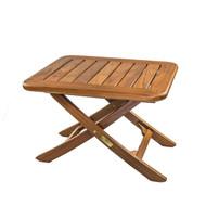 Whitecap Teak Small Adjustable Slat Top Table