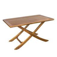 Whitecap Teak Large Adjustable Slat Top Table