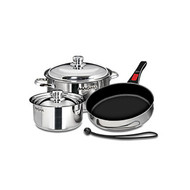 Magma 7 pc. Stainless Cookware w/ Ceramica Non-Stick