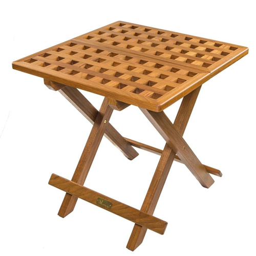 Grate Teak Coffee Table: Teak Fold-Away Table By Whitecap