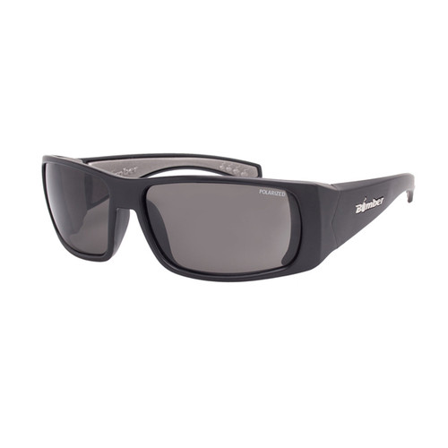 Bomber Pipe Bombs Matte Black with polarized Smoke Lens