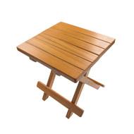 Whitecap Teak Grooved Top Fold-Away Table/Stool