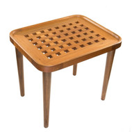 Whitecap Teak Cockpit Grate End Table