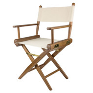 Whitecap Teak Director's Chair w/ Natural Seat Covers
