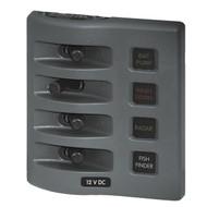 Blue Sea WeatherDeck Waterproof Fuse Panel - 4 Switch
