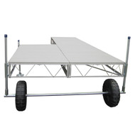 Patriot Docks Patio Roll-In Dock w/ Gray Aluminum Decking