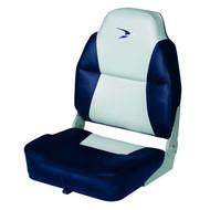 Wise Lund Style Premium Folding Boat Seat - Grey/Navy