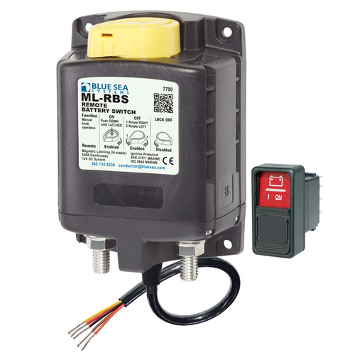 Blue Sea ML-RBS Remote Battery Switch 12V DC 500A