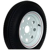 "Kenda Loadstar 205/75D15 5-Lug 15"" Bias Trailer Tire - White Mini Mod"