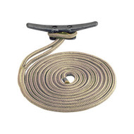Sea Dog Braided Nylon Dock Line - Gold/White