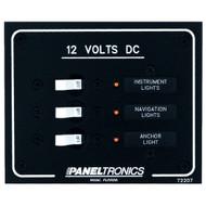 Paneltronics Standard DC 3 Position Breaker Panel w\/LEDs