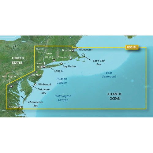 Garmin BlueChart g2 Vision HD - VUS511L - Boston - Norfolk - microSD\/SD