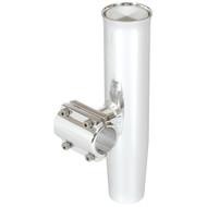 """Lee's Clamp-On Rod Holder - Silver Aluminum - Horizontal Mount - Fits 2.375"""" \/ 2-3\/8"""" O.D. Pipe"""