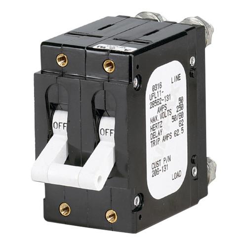 Paneltronics 'C' Frame Magnetic Circuit Breaker - 60 Amp - Double Pole - White