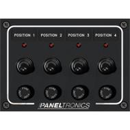 Paneltronics Waterproof Panel - DC 4-Position Toggle Switch & Fuse w\/LEDs