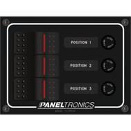 Paneltronics Waterproof Panel - DC 3-Position Illuminated Rocker Switch & Fuse