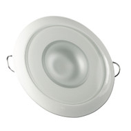 Lumitec Mirage - Flush Mount Down Light - Glass Finish\/White Bezel - White Non-Dimming