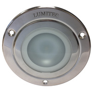 Lumitec Shadow - Flush Mount Down Light - Polished SS Finish - 3-Color Red\/Blue Non Dimming w\/White Dimming