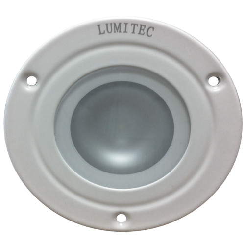 Lumitec Shadow - Flush Mount Down Light - White Finish - 3-Color Red\/Blue Non Dimming w\/White Dimming