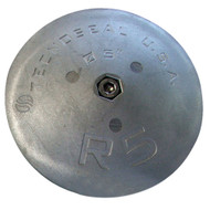 """Tecnoseal R5MG Rudder Anode - Magnesium - 5"""" Diameter"""