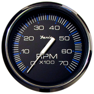 "Faria Chesapeake Black SS 4"" Tachometer - 7,000 RPM (Gas - All Outboards)"
