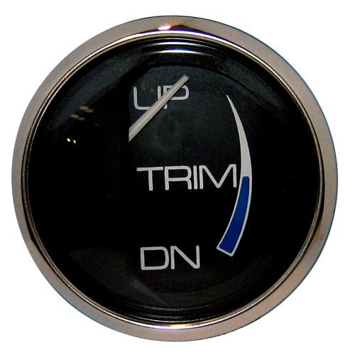 """Faria Chesapeake Black 2"""" Trim Gauge (Mercury \/ Mariner \/ Mercruiser \/ Volvo DP \/ Yamaha-2001 and newer)"""