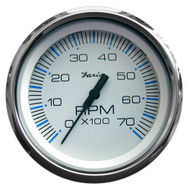 "Faria Chesapeake White SS 4"" Tachometer - 7,000 RPM (Gas - All Outboards)"