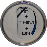 "Faria Chesapeake White SS 2"" Trim Gauge (Mercury \/ Mariner \/ Mercruiser \/ Volvo DP \/ Yamaha-2001 and newer)"