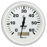 "Faria Dress White 4"" Tachometer w\/Hourmeter - 6,000 RPM (Gas - Inboard)"